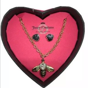 NEW Juicy Couture Bee Gold Tone Necklace & Earring